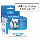 Address Labels, 1-1/8 x 3-1/2, White, 700/Box