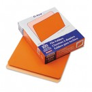 Two-Tone File Folders, Straight Top Tab, Letter, Orange/Light Orange, 100/Box