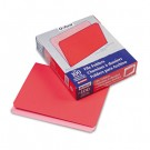 Two-Tone File Folder, Straight Cut, Top Tab, Letter, Red/Light Red, 100/Box