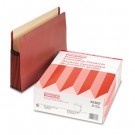 Watershed Seven Inch Expansion File Pocket, Straight Cut, Letter, Red