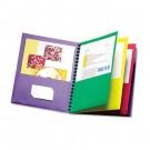Elegant Stripe Eight-Pocket Organizer, Embossed Leather Grain, Assorted Colors