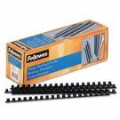 """Plastic Comb Bindings, 3/8"""" Diameter, 55 Sheet Capacity, Black, 100 Combs/Pack"""