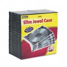 Thin Jewel Case, Clear/Black, 100/Pack