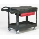 TradeMaster Cart, 500-lb Cap., 1 Shelf, 38 5/8w x 52 1/2d x 37 7/8h, Black