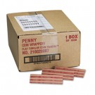 Pop-Open Flat Paper Coin Wrappers, Pennies, $.50, 1000 Wrappers/Box