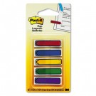 """Arrow 1/2"""" Flags, Blue/Green/Purple/Red/Yellow, 20/Color, 100/Pack"""