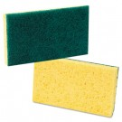 Medium Duty Scrubbing Sponge, 3 5/8 x 6 1/4, Yellow/Green
