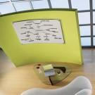 iQTotal Erase Board, 49 x 32, White, Translucent Frame