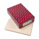 Straight Cut End Tab Folders, 9 1/2 Inch Front, Legal, Manila, 100/Box