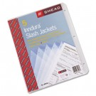 Slash Pocket Jackets, Letter, Polypropylene, Clear, 5/Pack