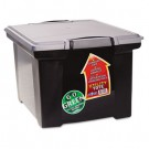 Portable File Tote w/Locking Handle Storage Box, Letter/Legal, Black