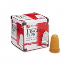 Rubber Finger Tips, Size 11, Small, Amber, 12/Pack