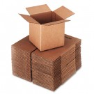 Corrugated Kraft Fixed-Depth Shipping Carton, 6w x 6l x 6h, Brown