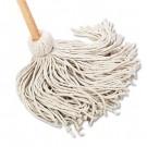"Deck Mop, 54"" Wooden Handle, 20-oz. Cotton Fiber Head"