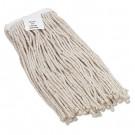 Cut-End Wet Mop Head, Cotton, #16 Size, White