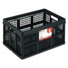 Filing/Storage Tote Storage Box, Plastic, 22-1/2 x 15-3/4 x 12-1/4, Black