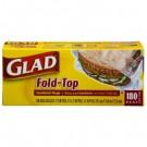 Fold Top Sandwich Bags, 6-1/2 x 5-1/2, Clear, 180/Box