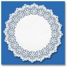 "Kenmore Lace Doilies, Round, 16"", White"