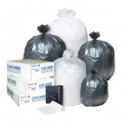 High-Density Can Liner, 38 x 60, 60-Gallon, 12 Micron, Black, 25/Roll