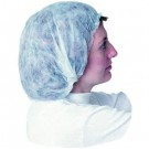 Non-Woven Bouffant Caps, Polypropylene, X-Large, White