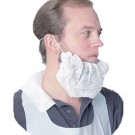 Spunbond Polypropylene Beard Net, White, One Size Fits All