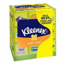 KLEENEX BOUTIQUE Anti-Viral Facial Tissue, 3-Ply, Decorative POP-UP Box