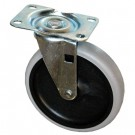 Replacement Swivel Casters, Bayonet, 5in Wheel, Black