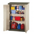 Large Vertical Storage Shed, 56 in x 32 in x 77 in, Olive/Sandstone